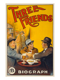 Three Friends Prints by  Cleveland Lithograph Co