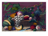 American Prize Fruit with Basket Prints by Thomas Kelly