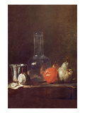 Still Life with a Glass Prints by Jean-Baptiste Simeon Chardin