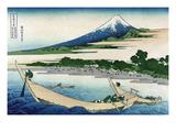 Shore of Tago Bay, Ejiri at Tokaido Poster af Katsushika Hokusai