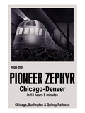 Ride the Pioneer Zephyr Posters by Paris Pierce