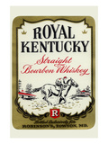 Royal Kentucky Straight Bourbon Whiskey Print