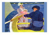 The Boat Travel Premium Giclee Print by Mary Cassatt