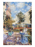 In a French Garden Premium Giclee Print by Childe Hassam
