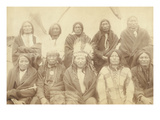 Lakota Chiefs Premium Giclee Print by John C.H. Grabill