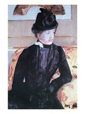 Young Woman in Black Prints by Mary Cassatt