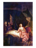 Joseph Is Accused by Potiphars Woman Posters by  Rembrandt van Rijn