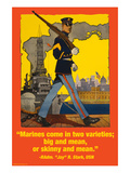 Marines Come in Two Varieties Affiches par Wilbur Pierce