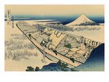 Ushibori in Hitachi Province Posters by Katsushika Hokusai