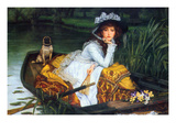 A Young Woman in a Boat Prints by James Tissot