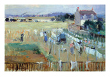 Laundry Day Print by Berthe Morisot