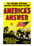 America's Answer. the Second Official United States War Picture Print