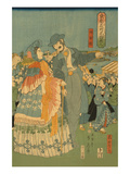 Foreign Sightseers in Famous Spots of Edo - RyoGoku Bridge Prints by Sadahide Utagawa