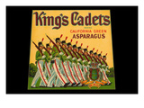King's Cadets California Green Asparagus Poster by  Union Lithograph Co