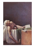 The Murdered Marat Art by Jacques-Louis David