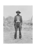Mexican Field Worker, Father of Six. Kunst af Dorothea Lange