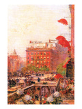 Broadway and Fifth Avenue Lámina por Childe Hassam