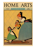 Young Girl Gives Her Baby Sister a Doll Posters by  Home Arts