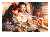 Portrait of Jean and Genevieve Caillebotte Posters by Pierre-August Renoir