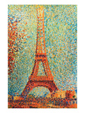 The Eiffel Tower Poster por Georges Seurat