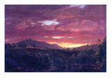 Dusk (Sunset) Posters by Frederic Edwin Church