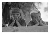 Children of Oklahoma Drought Refugee Premium Giclee Print by Dorothea Lange