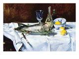 Still Life with Salmon Poster par Édouard Manet