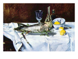 Still Life with Salmon Poster by Édouard Manet