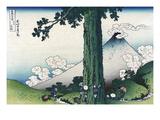 Mishima Pass in Kai Province Poster von Katsushika Hokusai