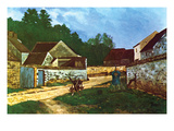 Village Street in Marlotte Prints by Alfred Sisley