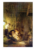 The Holy Family [1] Posters by  Rembrandt van Rijn