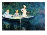 Women Fishing Posters by Claude Monet