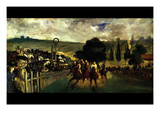 Race at Longchamp by Edouard Manet Posters by Edouard Manet
