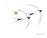 Svaler Giclée-tryk af Benjamin Chee Chee