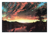 Secluded Landscape in the Sunset Prints by Frederic Edwin Church