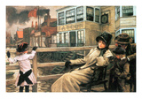 On the Ferry Waiting No.2 Print by James Tissot