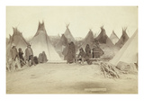 Native American Encampment - Lakota Indians Print by John C.H. Grabill