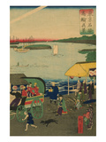 Famous Places in Tokyo: Real View of Takanawa (Tokyo Meisho Takanawa No Shinkei) No.3 Posters by Ando Hiroshige