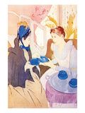 Tea in the Afternoon Poster by Mary Cassatt