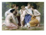 Admiration Print by William Adolphe Bouguereau
