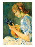 The Mandolin Art by Berthe Morisot