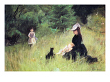 In the Meadow Art by Berthe Morisot