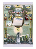 Symbols - Masonic Register Premium Giclee Print by  Strobridge & Gerlach