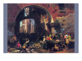 The Arch of Octavius, Roman Fish Market Prints by Albert Bierstadt