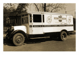 Hughes-Curry Packing Company, Crest-Purity-Brand Delivery Truck Print