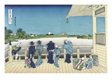 Sazai Hall - 500 Rakanji Temple Kunstdrucke von Katsushika Hokusai