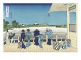 Sazai Hall - 500 Rakanji Temple Prints by Katsushika Hokusai