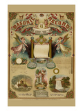 Symbols -Masonic Record Premium Giclee Print by  Hudson