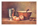 The Silver Cup Premium Giclee Print by Jean-Baptiste Simeon Chardin