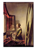 Girls at the Open Window Kunstdruck von Johannes Vermeer